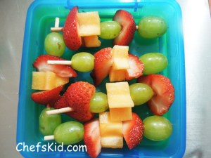 Fruit Kabobs from ChefsKid.com