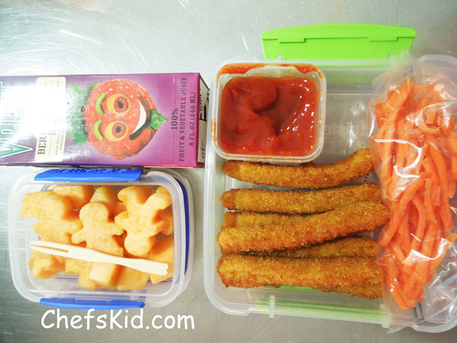 Chicken Fries and Cantelope Men from ChefsKid.com