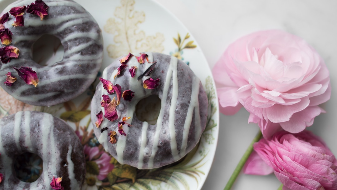 Donut flat lay mothers day tea