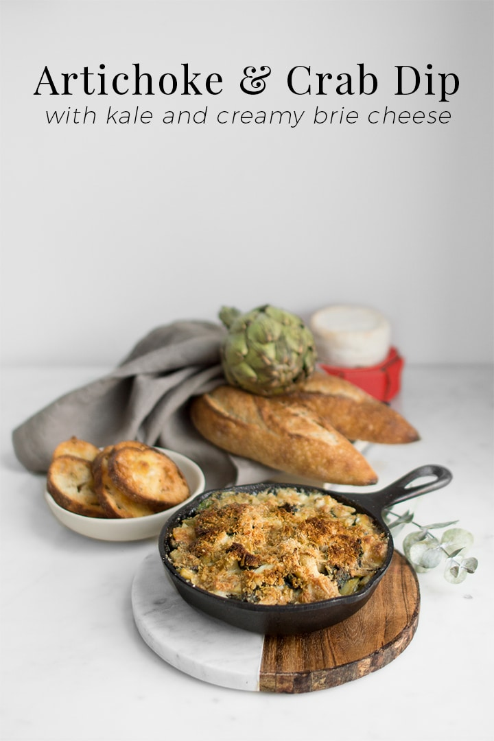 This creamy, melt in your mouth cheese dip is highlighted by the rustic qualities of the artichoke and kale leaves and enhanced with the richness of the crab.