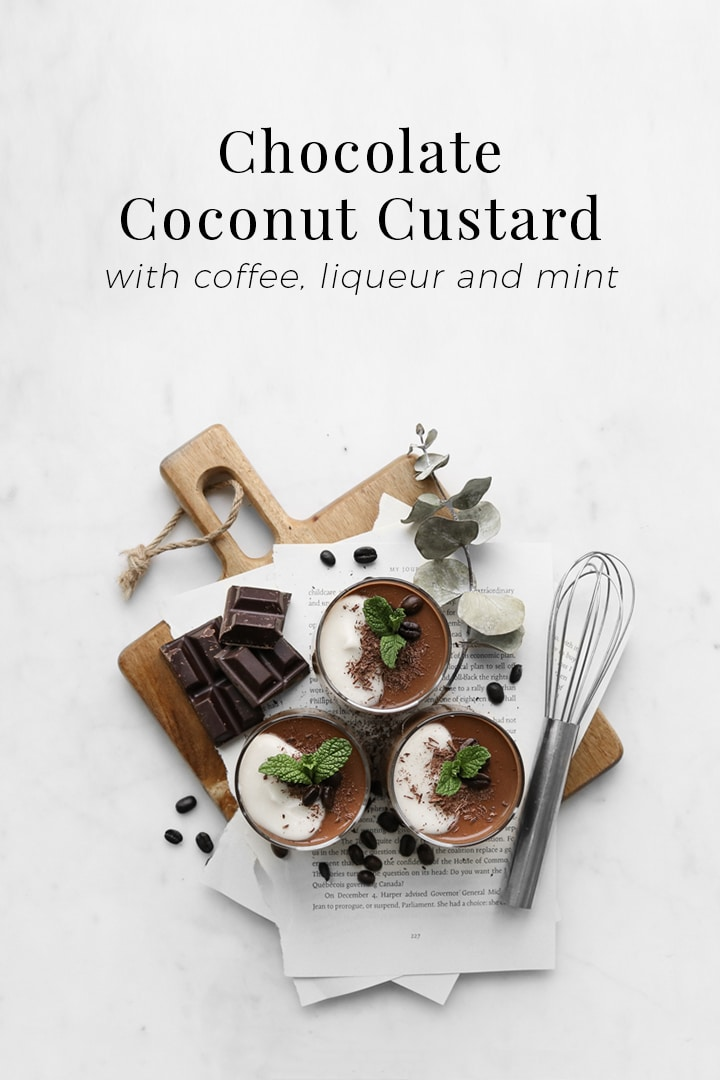 This chocolate coconut custard made with coffee,liqueurand egg yolks is velvety and so utterly delectable, so adamantly rich, and so intensely orgasmic, leaving you feeling elated and ethereal with every bite as if you were twirling and swirling in heaven. #BeautifulFood #Dessert #Chocolate #Coconut