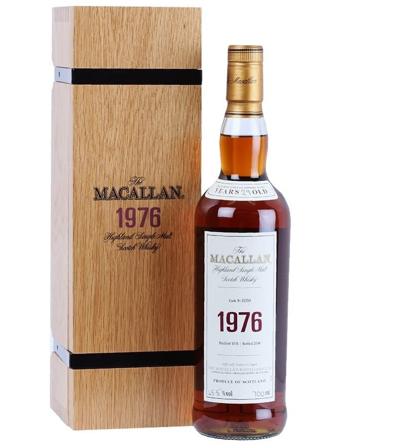 The Macallan Fine & Rare Vintage Single Malt Scotch Whisky 1976