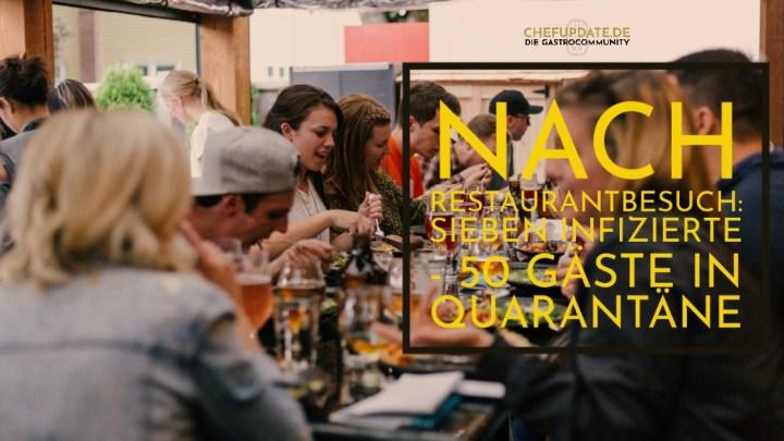 Nach Restaurantbesuch: Sieben Infizierte – 50 Gäste in Quarantäne