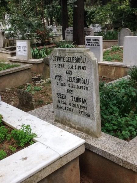 calendario ottomano utilizzato nel cimitero Karacaahmet Mezarlığı a istanbul
