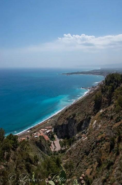 vista della costa da taormina
