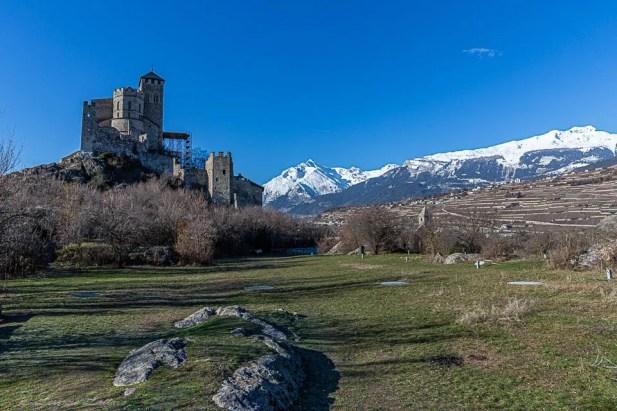 panorama Château de Valère a Sion
