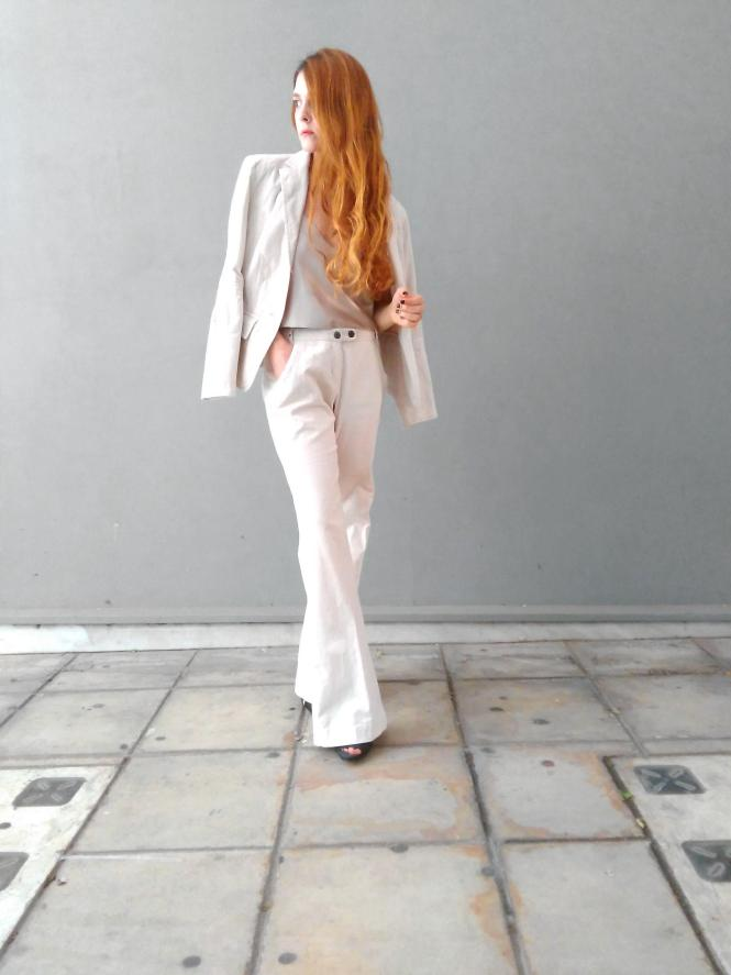 all white pant suir power suits how to style