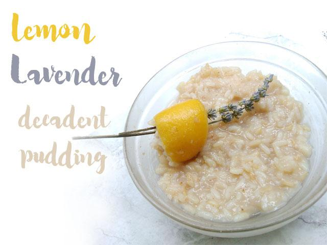 lemon lavender rice pudding vegan rice pudding recipes