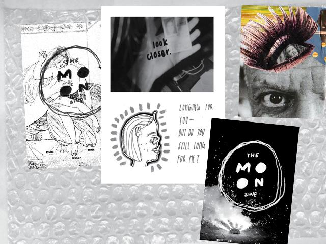 collage the moon zine madazine