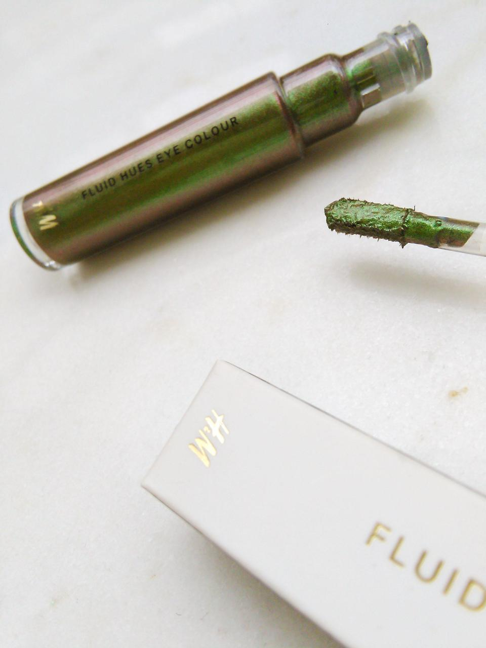 H&M nw makeup range fluid hues green holographic