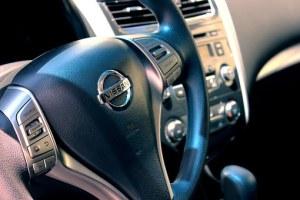 Nissan gray steering wheel