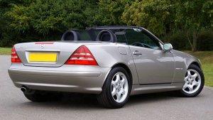 Gray convertible car