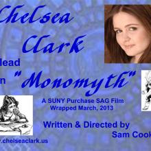 Postcards - Chelsea Clark as lead in MONOMYTH