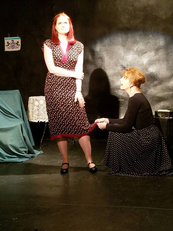 Chelsea Clark and Monika Voel in Glass Menagerie at the Stimon Studio