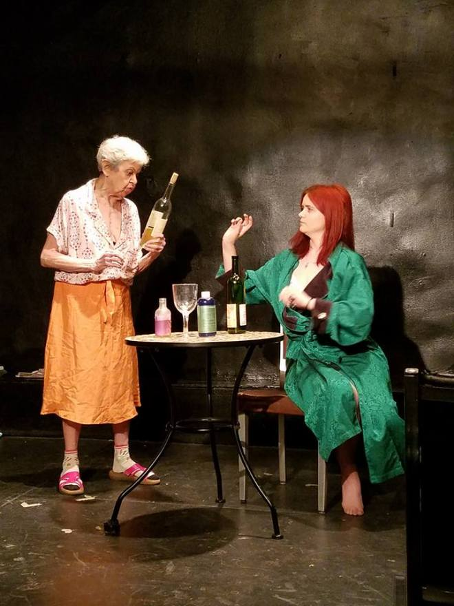 Chelsea Clark and C.J. Gelfand in Tennessee Williams' Lady of Larkspur Lotion at the Simon Studio