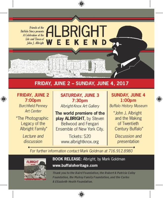 Chelsea Clark is participating the the ALBRIGHT Weekend in Buffalo, NY as Jean Clemens in the play, Albright