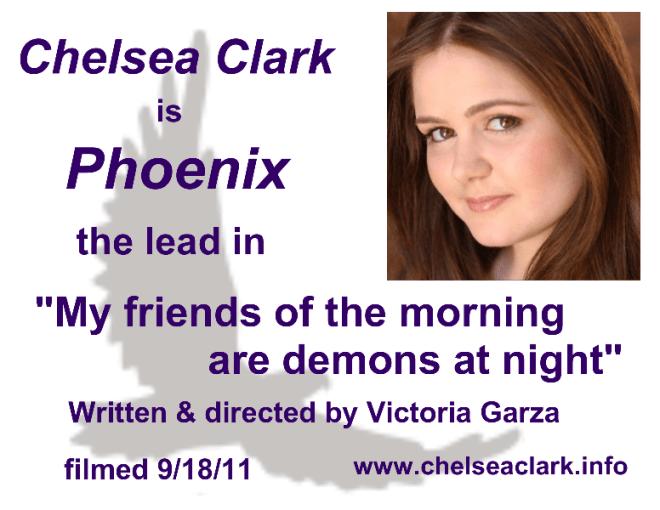Film Shorts: Victoria Garza's OMEN OF DEATH, with Chelsea Clark as lead Phoenix