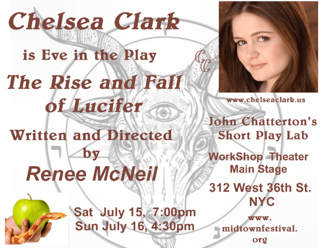 Chelsea Clark is Eve in Renee McNeil's THE RISE AND FALL OF LUCIFER at John Chatterton's Midtown International Festival