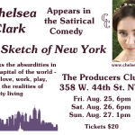 Chelsea Clark performs in the satirical comedy, A SKETCH OF NEW YORK, August 2017