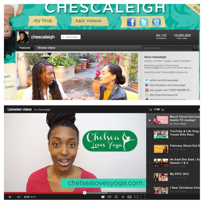 Chescaleigh Shouts Out Chelsea Loves Yoga