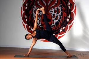 You can practice yoga with Rachelle at Tough Love Yoga in Atlanta, GA.