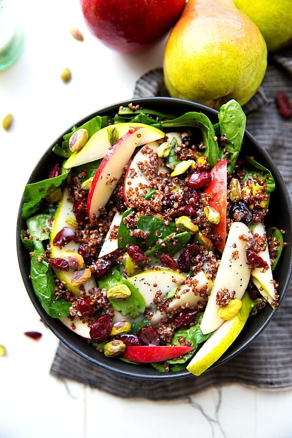 Easy Apple Pistachio Quinoa Salad