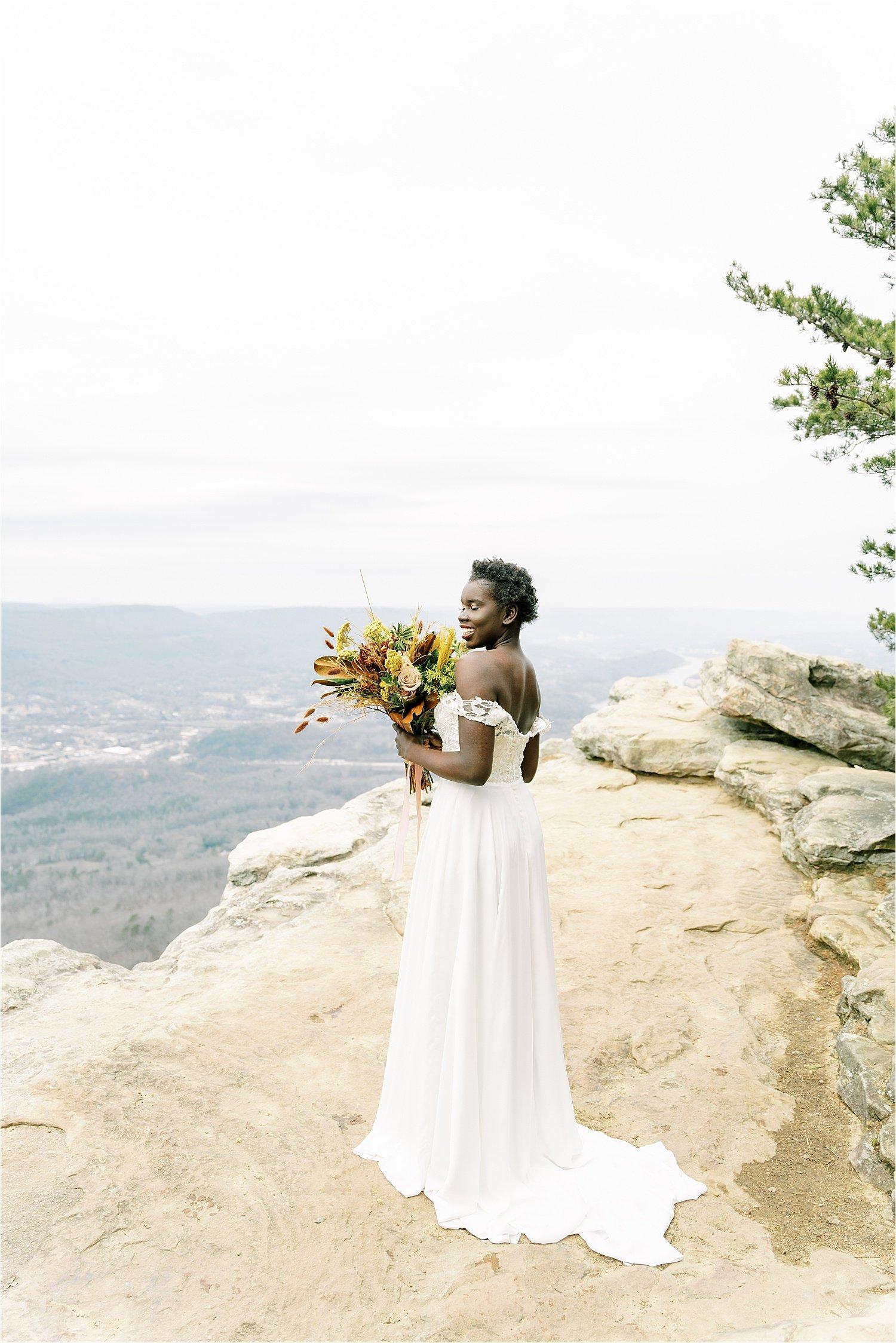 sunset rock elopement photographer
