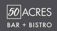 50 Acres Bar + Bistro logo options