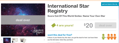 An interesting experience with the international star registry starlivingsocial yadclub Image collections