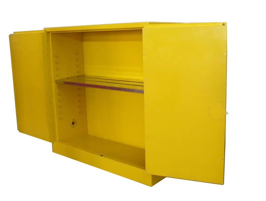 Liquid Safety Flammable Storage Cabinet Yellow Powder