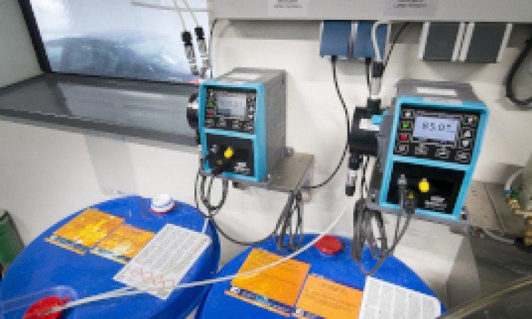 Qdos pumps deliver precise chemical dosing at car wash