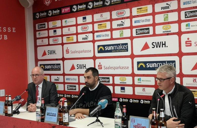 Pressekonferenz vor dem Spiel gegen die SG Sonnenhof Großaspach