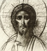 Christ - Croquis brun