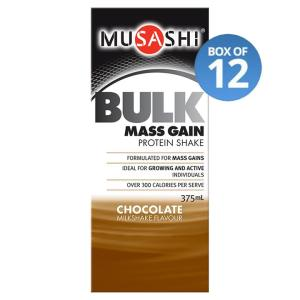 Musashi Bulk Mass Gain Protein RTD 375mL (Box of 12)