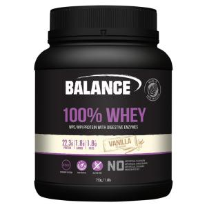 Balance 100% Whey Natural Chocolate 750gm