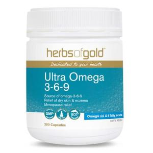 Herbs Of Gold Ultra Omega 3-6-9 200 Capsules