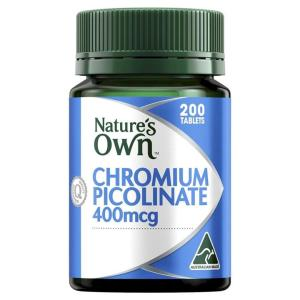 Chromium Picolinate 400mcg 200 Tablets – Natures Own