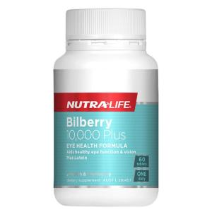NutraLife Bilberry 10,000 + Lutein Complex 60 Tablets