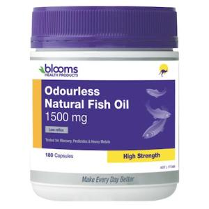 Blooms Omega 3 Odourless Natural Fish Oil 1500mg 180 Capsules