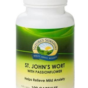 St Johns Wort w Passionflower 100 Capsules – Natures Sunshine