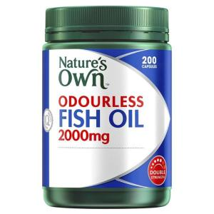 Odourless Fish Oil 2000mg 200 Capsules – Natures Own