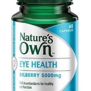 Eye Health (Bilberry 5000) 60 Capsules – Natures Own