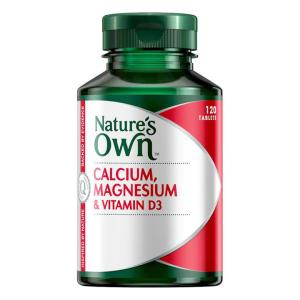 Nature's Own Calcium, Magnesium & Vit D3 120 tablets