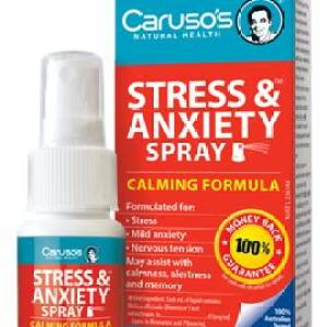 Carusos Natural Health Stress & Anxiety Spray 30ml