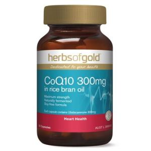 Herbs of Gold CoQ10 (In Rice Bran Oil) 300mg 30 Capsules