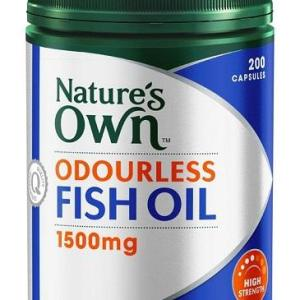Odourless Fish Oil 1500mg 200 Capsules – Natures Own