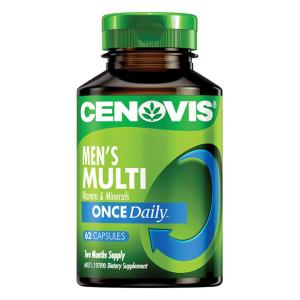 Cenovis Men's Multi Vitamins & Minerals Once Daily Cap X 62
