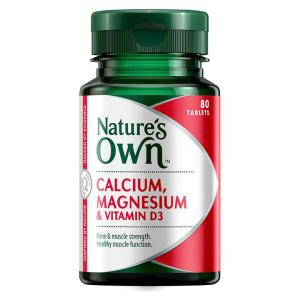 Nature's Own Calcium & Magnesium With Vitamin D3 Tab X 80
