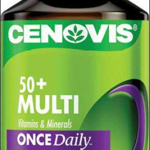 Cenovis 50 Plus Multi Vitamins & Minerals Once Daily Cap X 125