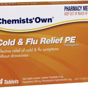 Chemists' Own Cold & Flu Relief PE Tab X 24 (Generic for CODRAL)